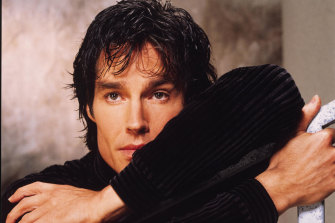 Ronn Moss as  the original Ridge Forrester in The Bold and the Beautiful.