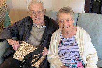 Florence and Graham Hansen, are both residents at Arcare Maidstone.