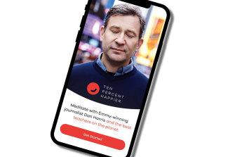 US television anchor Dan Harris' meditation app Ten Percent.