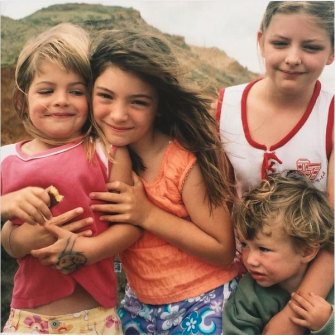 Lorde  (centre) as a child  with her siblings.