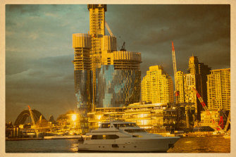 Crown's Barangaroo casino, under construction.