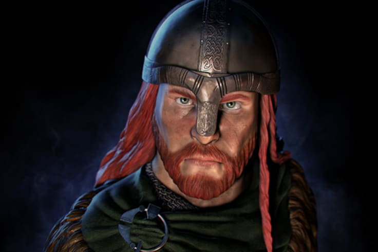 An artist's impression of viking Erik the Red.