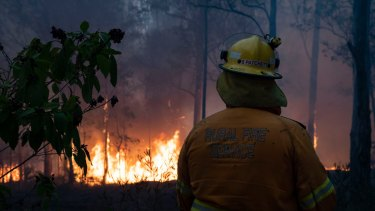 Firefighters have urged residents to leave the area (file image).