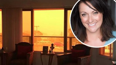 Comedian Celeste Barber posted an image of her mother-in-law's house at Eden on social media in her fundraising efforts for the Rural Fire Service.