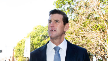Ben Roberts-Smith arrives at the Federal Court for his defamation proceedings against The Age and Sydney Morning Herald.