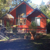 Peter Hassell's house at Rainbow Flat before it was destroyed by bushfires.