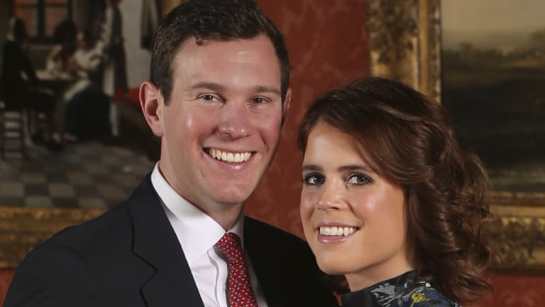 The happy couple: Princess Eugenie and Jack Brooksbank.