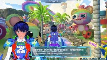 Lu Yang, Material World Knight 2019 (still), computer game environment.