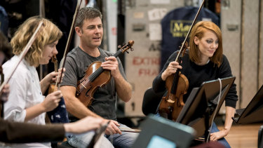 Australian Chamber Orchestra members rehearse for HomeCast.