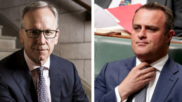 Geoff Wilson, left, and Liberal MP Tim Wilson, right, are related.