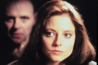 Jodie Foster and Anthony Hopkins in Silence of the Lambs.