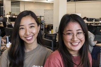 Davina Adisusila and Jenny Chu, engineers at Eucalyptus.