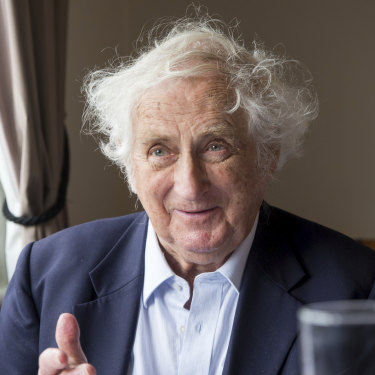 Geoffrey Blainey has been a regular at Geppetto for more than 30 years.
