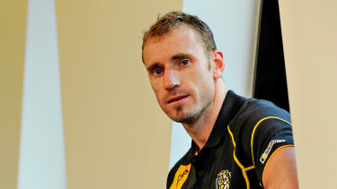 Former Richmond player Shane Tuck was found to have a severe case of CTE after his death last year.