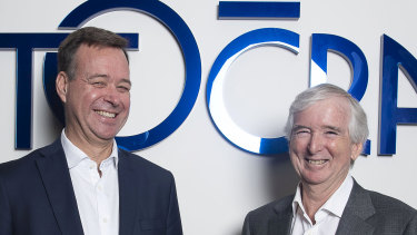 Aristocrat Leisure's chief executive Trevor Croker (left) and chairman Neil Chatfield have presided over the company's soaring stock price.