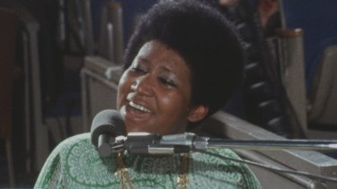 Aretha Franklin in Amazing Grace.