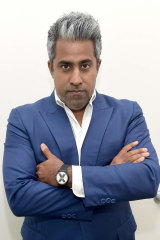 "Anand Giridharadas, a fierce critic of ""win-win"" culture."
