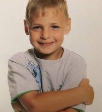 A childhood photo of Jason Langhans.