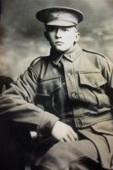 Alec Campbell in uniform during World War I.