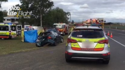 Good Samaritan hit by car while helping at crash near Toowoomba