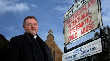 Threatened: Gosford Anglican priest, Father Rod Bower.