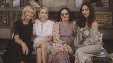 Simone Zimmermann, Emma Roberts, Nicky Zimmermann and Olivia Munn.