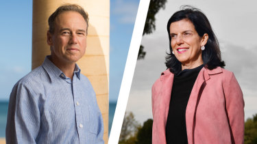 Liberal Greg Hunt and independent Julia Banks are going head-to-head in Flinders.