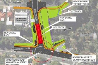The proposed design for the new bridge.