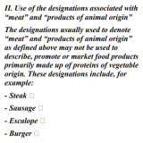 New ingredients: a proposed EU law banning veggie burgers.
