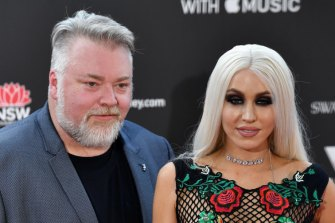 Happier times: Kyle Sandilands and Imogen Anthony at the ARIAs.