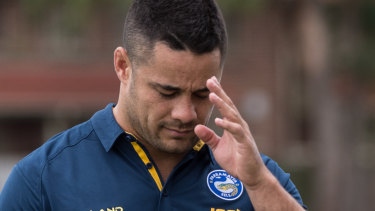 Jarryd Hayne is in police custody over allegations he sexually assaulted a woman on NRL grand final night.