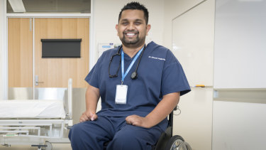 Dinesh Palipana was the first quadriplegic medical intern in Queensland and the second person with quadriplegia to graduate medical school in Australia.