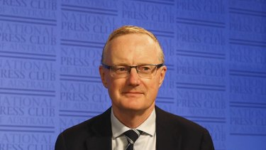 Governor of the Reserve Bank of Australia, Philip Lowe, addresses the National Press Club in Canberra on February 3, 2021.