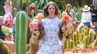 Thorny issues ... Melbourne Fashion Week played host to Australia's first catwalk in eight months.