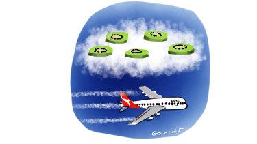 Air New Zealand chief executive Greg Foran sent Qantas boss Alan Joyce a gift - a pavlova covered in kiwifruit.