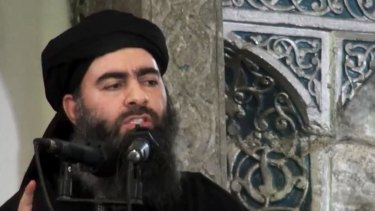 The expulsion of Islamic State fighters from their last footholds raises questions about the whereabouts of the group's leader, Abu Bakr al-Baghdadi, (pictured last year).