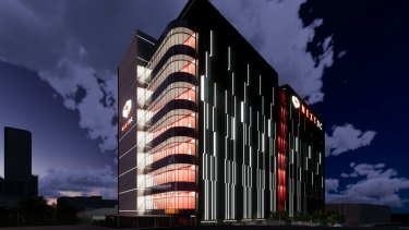 An artist's impression of NextDC's East Perth data centre.