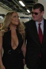 Mariah Carey with James Packer.