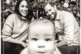 Prince Harry and Meghan's Christmas card, featuring son Archie. The family spent Christmas in Canada.