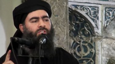 The expulsion of Islamic State fighters from Hajin raises questions about the whereabouts of the group's leader, Abu Bakr al-Baghdadi, (pictured last year).