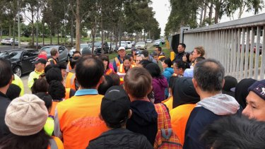 Employees of Fastline Logistics in Derrimut are told the company is going into liquidation.