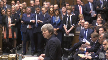 Theresa May makes her statement in the House of Commons on Monday.