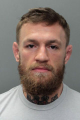 Trouble: A photo provided by the Miami Beach Police Department of arrested UFC superstar Conor McGregor.