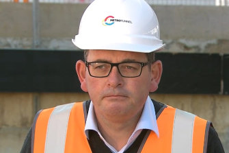 Daniel Andrews has returned to work after more than three months off due to a back injury.