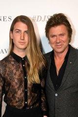 Christian Wilkins alongside his father, Channel Nine entertainment editor Richard Wilkins.