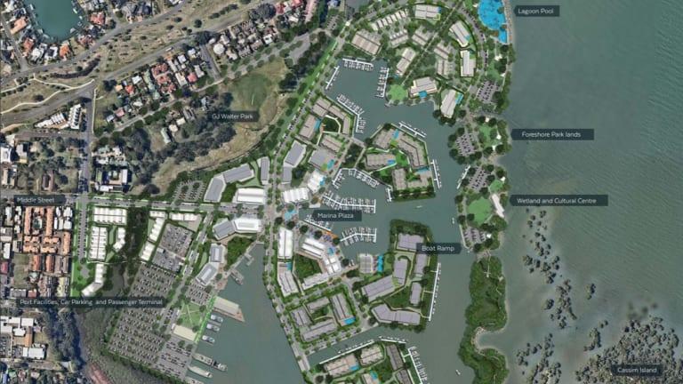 June 2018 plan for Cleveland's Toondah Harbour.