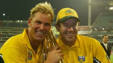 Shane Warne (left) and Ricky Ponting were members of cricket's last truly dominant side.