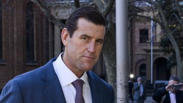 Ben Roberts-Smith arriving at the Federal Court in Sydney on Friday.