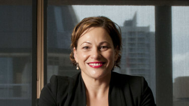 A senior public servant remains suspended on paid leave during an investigation into the hiring of a school principal that led to Jackie Trad resigning from cabinet.