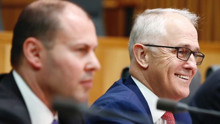 Josh Frydenberg and Malcolm Turnbull launch the National Energy Guarantee last October.